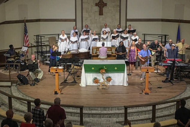Choir and Praise Band at Christ Church Vero Beach