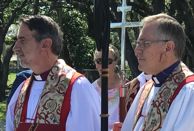 Bishop Foley Beach and Bishop John Miller at Christ Church Vero Beach Consecration