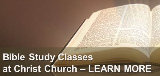 Bible Study Classes at Christ Church